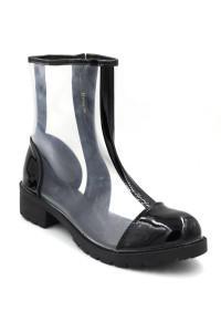 Boots transparentes noir