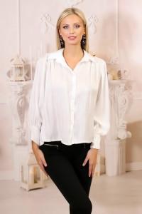 Chemise satinée blanche