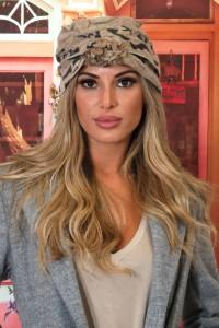 Chapeau cloche laine camel