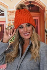 Bonnet polaire orange