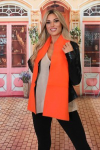 Echarpe en laine orange