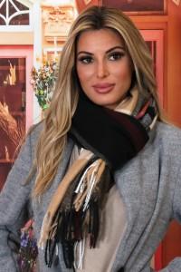 Echarpe en laine noir