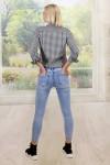 Jean taille haute strass