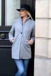 Manteau coupe droite gris