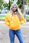 Doudoune courte jaune