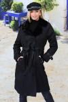 Manteau fourrure intérieur noir