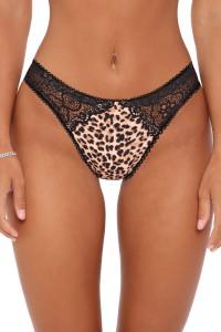 Culotte dentelle motif léopard