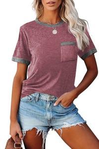 Tee-shirt bordeaux bordure grise