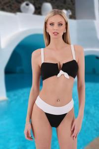 Bikini noeud noir et blanc
