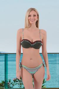 Bikini à motif kaki