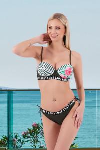 Bikini tropical kaki