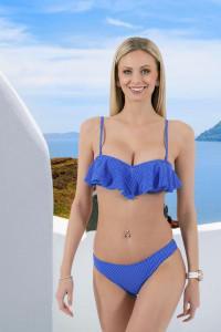 Bikini bleu à pois