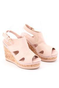Sandales nudes à talons