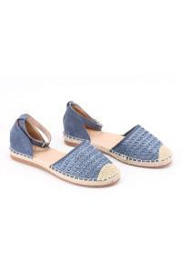 Sandales plates bleue