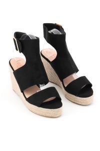 Sandales à talons compensées noires