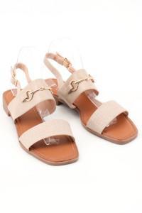 Sandales beiges plates