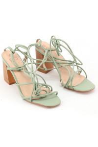 Sandale ouverte vert d'eau