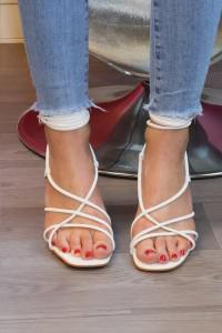 Sandale ouverte blanche
