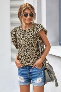 T-shirt imprimé léopard