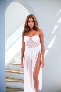 Body robe blanc