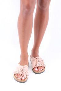 Sandales plates roses