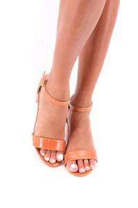 Sandales à talon camel