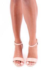 Sandales à talon rose