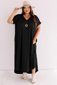 Robe loose noir