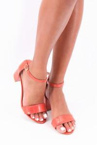 Sandales à talon orange