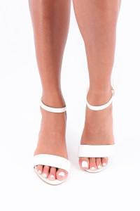 Sandales à talon blanc