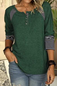 T-shirt manches longues vert