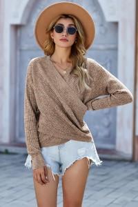 Pull en tricot beige