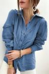 Chemise bleue effet jean