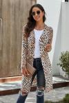 Gilet long imprimé léopard