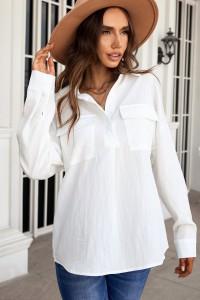 Chemise boutonnée blanche
