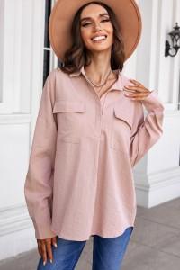 Chemise boutonnée rose