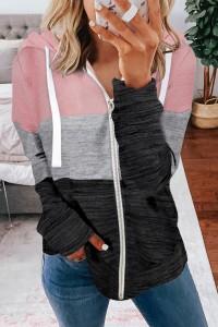 Veste à capuche rose