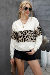 Pull en maille léopard