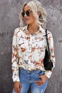 Chemise à motif floral