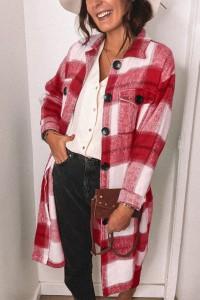 veste à carreaux rouge