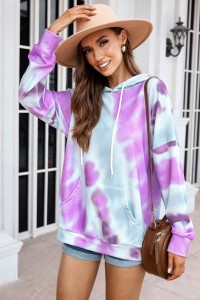 Pull Tie and dye violet