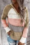 Sweat à capuche en tricot multicolore