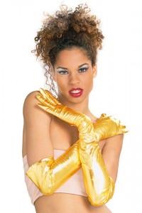 Paire de gants or