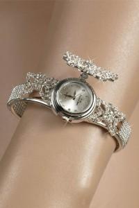 Bracelet montre strass Papillon