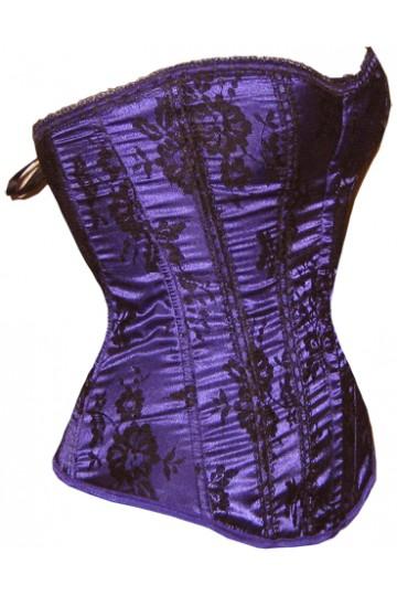Corset violet avec motifs floraux