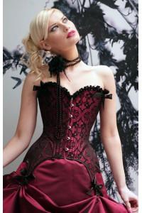 Ensemble corset et string détails satinés